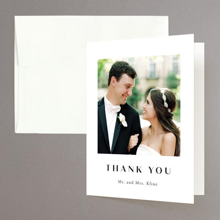 """Arguello"" - Folded Thank You Card in Diamond by Annie Shapiro."