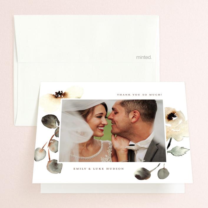 """Bella Mia"" - Folded Thank You Card in Autumn by Petra Kern."