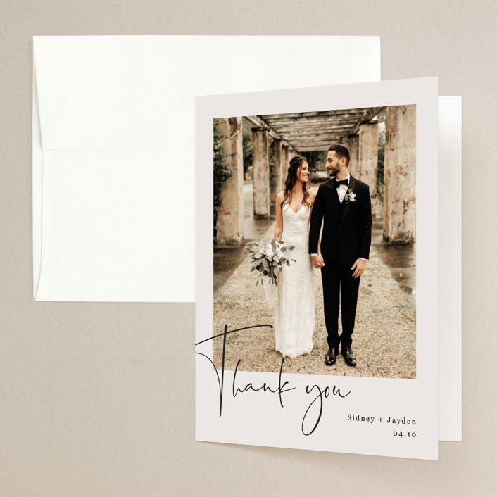 """stylist script"" - Folded Thank You Card in Ivory by Cass Loh."