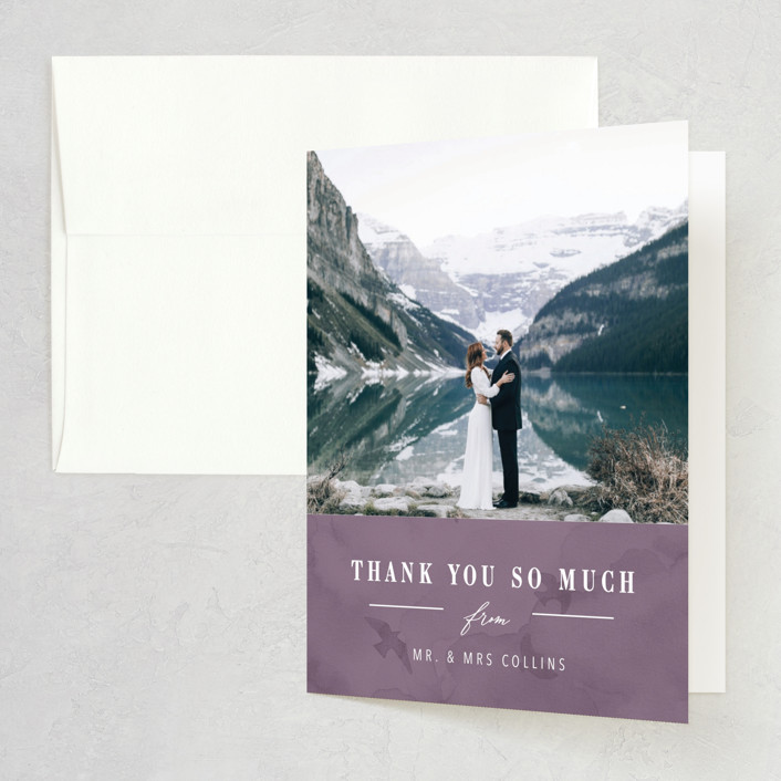 """High"" - Rustic Folded Thank You Card in Agate by Yuliya Evseeva."