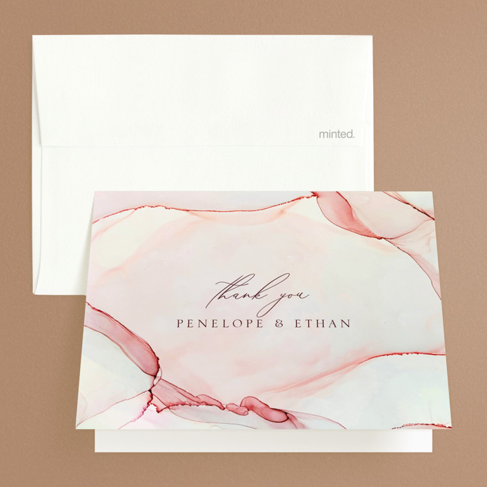 """""""opalescent"""" - Folded Thank You Card in Chalcedony by Erin Deegan."""