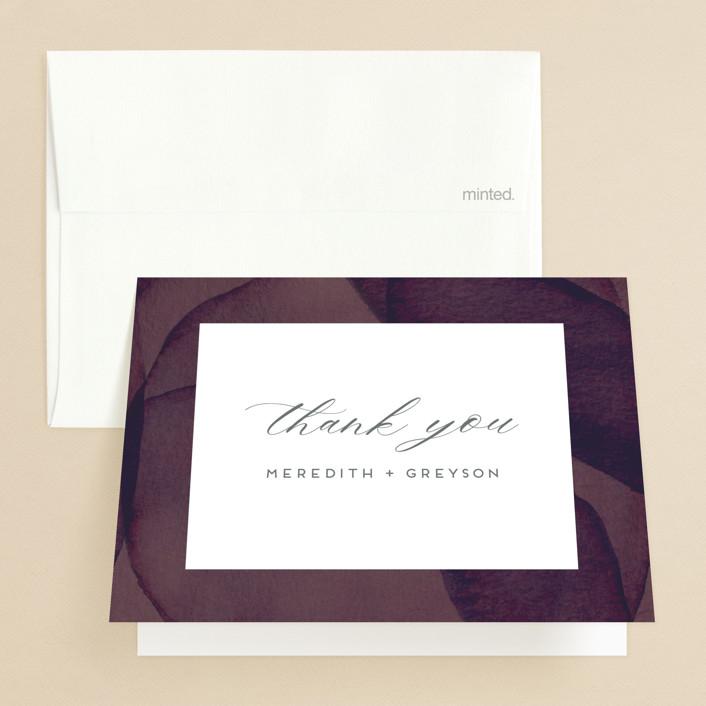 """Petalis"" - Folded Thank You Card in Velvet by Christie Garcia."