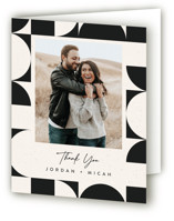 This is a black wedding thank you card by Carly Reed Walker called Kenai with standard printing on strathmore in standard.