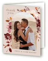 This is a pink wedding thank you card by Petra Kern called Love Garden with standard printing on strathmore in standard.