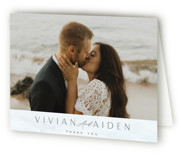 This is a blue wedding thank you card by Nicoletta Savod called At Sea with standard printing on strathmore in standard.