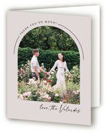 This is a brown wedding thank you card by Jill Means called Overjoyed with standard printing on strathmore in standard.