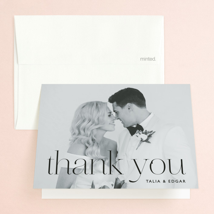 """""""Swoon"""" - Folded Thank You Card in Cream by Lindsay Stetson Thompson."""