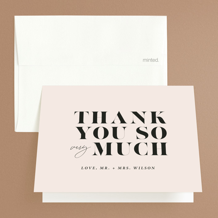 """""""Finally"""" - Funny Folded Thank You Card in Ivory by Up Up Creative."""