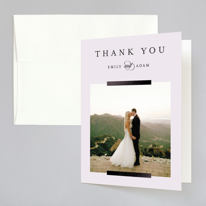 """""""and something blue"""" - Foil-pressed Thank You Cards in Sky by Kasia Labocki."""