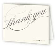 Winter Flourish Foil-Pressed Thank You Cards