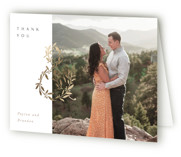 This is a white wedding thank you card by Creo Study called Love and Marriage with foil-pressed printing on strathmore in standard.