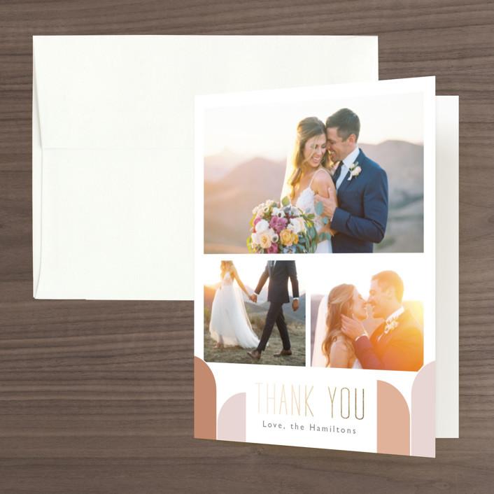 """""""desert dream"""" - Foil-pressed Folded Thank You Card in Desert by Caitlin Considine."""