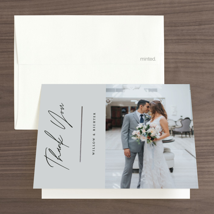 """""""Pinecrest"""" - Foil-pressed Folded Thank You Card in Pearland by Ashlee Townsend."""