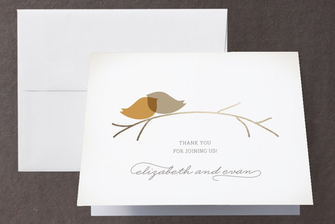 Nestled Foil-Pressed Thank You Cards