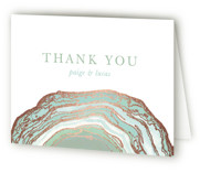 This is a green wedding thank you card by Kaydi Bishop called Gilt Agate with foil-pressed printing on strathmore in standard.