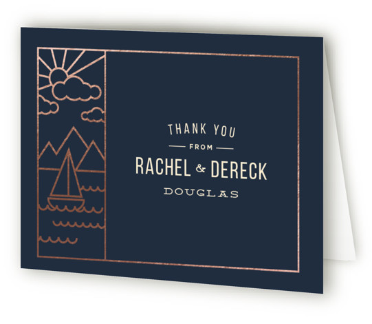 Nautical By Nature Foil-Pressed Thank You Cards
