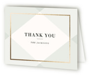 Creme Brulee Foil-Pressed Thank You Cards