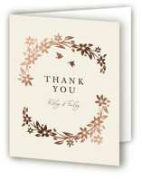 This is a beige wedding thank you card by Paper Sun Studio called In the country with foil-pressed printing on strathmore in standard.