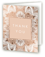This is a brown wedding thank you card by Erin L. Wilson called Santa Fe with foil-pressed printing on strathmore in standard.
