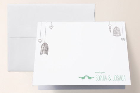 Love Let Loose Foil-Pressed Thank You Cards