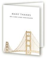Golden Gate Bridge Foil-Pressed Thank You Cards