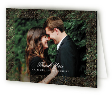 glittered Foil-Pressed Thank You Cards