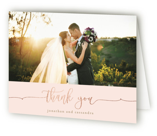 Tying The Knot Foil-Pressed Thank You Cards