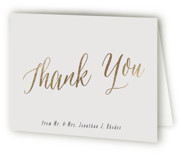 This is a purple wedding thank you card by Hooray Creative called Garden Lights with foil-pressed printing on strathmore in standard.