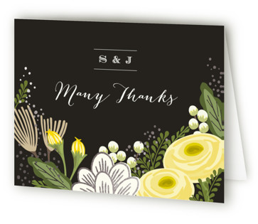 Bolero Foil-Pressed Thank You Cards