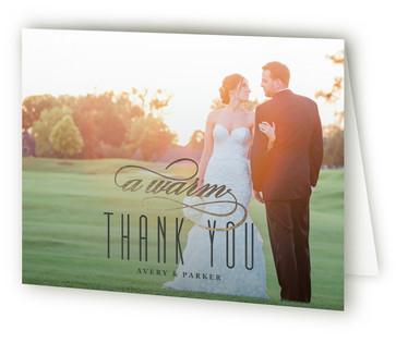 Polka Dot Elegance Foil-Pressed Thank You Cards