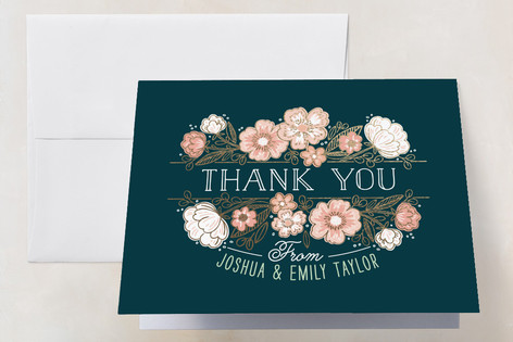 Country Florals Foil-Pressed Thank You Cards