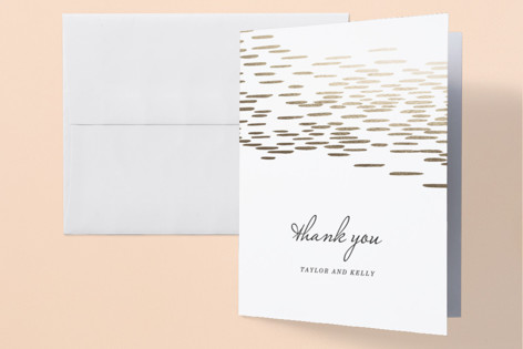 """""""Sahara Shimmer"""" - Foil-pressed Thank You Cards in Almond by Makewells."""
