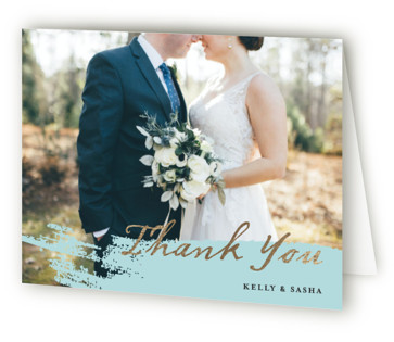 Modern Dot Foil-Pressed Thank You Cards