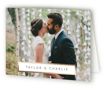 Timber Foil-Pressed Thank You Cards