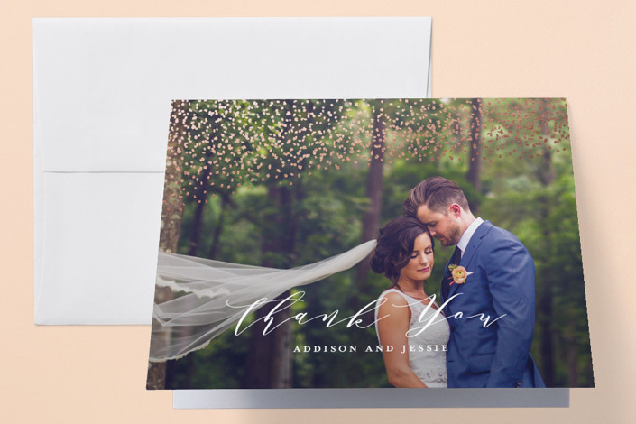 """""""This Love"""" - Foil-pressed Thank You Cards in Velvet by Eric Clegg."""