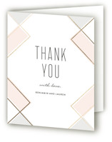 This is a pink wedding thank you card by Erica Krystek called Soft Glass with foil-pressed printing on strathmore in standard.