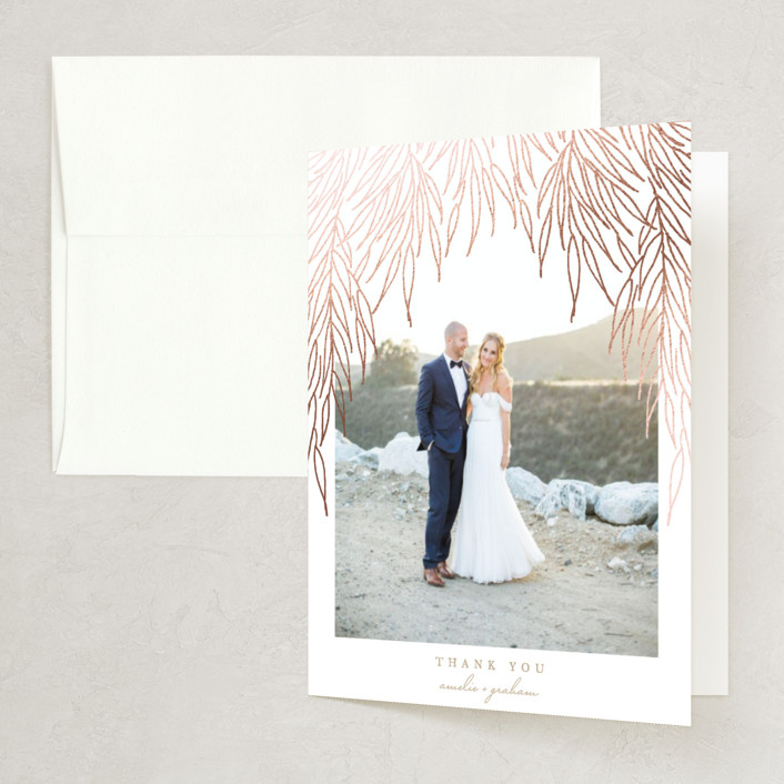 """""""Vineyard"""" - Foil-pressed Thank You Cards in Plum by Erin L. Wilson."""