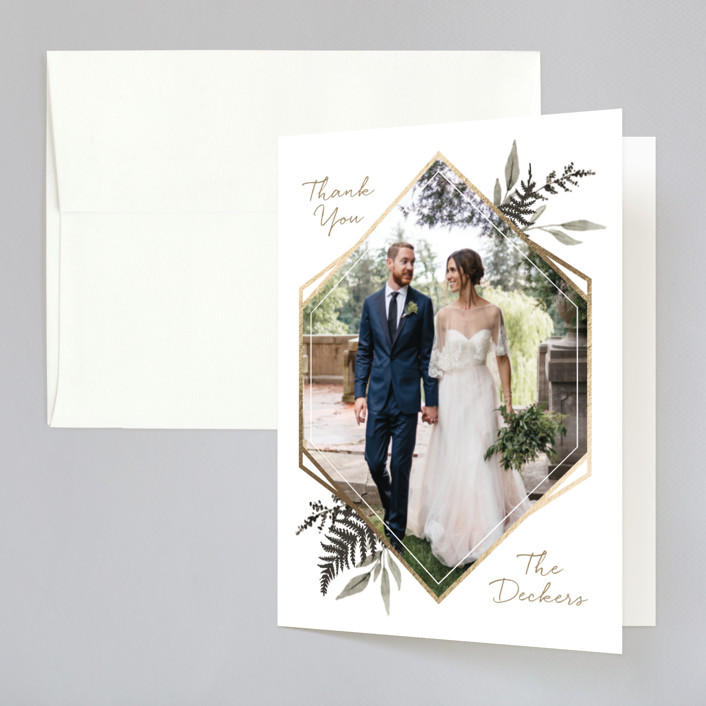 """""""Shade Garden"""" - Foil-pressed Thank You Cards in Ink by Robin Ott."""