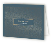 This is a grey wedding thank you card by Erica Krystek called stylish dots with foil-pressed printing on strathmore in standard.