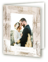 This is a pink wedding thank you card by Phrosne Ras called stippels with foil-pressed printing on strathmore in standard.