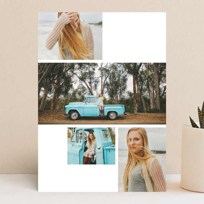 """Modern Grad Gallery"" - Vellum Graduation Background Cards in Slate by Kristie Kern."