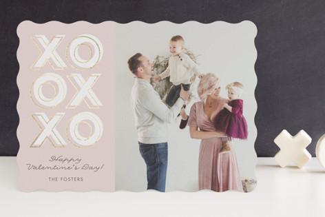 Xoxoxo Foil-Pressed Valentine Cards