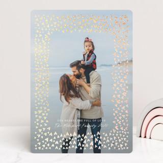 Valentine Hearts Frame Foil-Pressed Valentine Cards