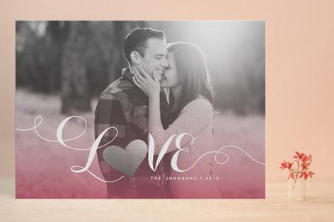 Sunset Foil-Pressed Valentine Cards