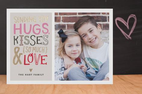 Doodle Words Foil-Pressed Valentine Cards