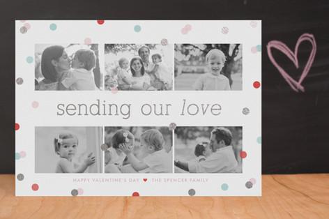 Confetti Foil-Pressed Valentine Cards