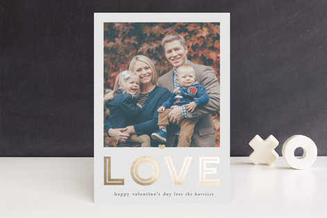 Love Large Foil-Pressed Valentine Cards