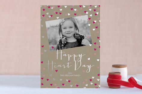 Sparkling Heart Confetti Foil-Pressed Valentine Cards