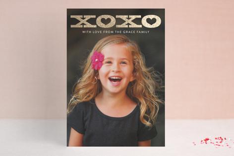 Bold XOXO Foil-Pressed Valentine Cards