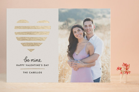 Luxe Heart Foil-Pressed Valentine Cards